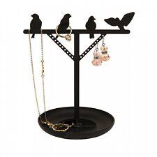 Kikkerland Steel Bird Jewellery Stand Black