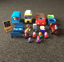 BIG Peppa Pig Bundle— Bus, Car, Caravan, Train, Figures, Furnitures etc