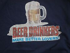 """Vintage Iron on """"Beer Drinkers make better Lovers"""" """"Carlos"""" T Shirt XL"""
