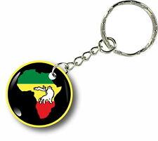 Porte clés clefs keychain voiture afrique drapeau rasta jamaique rastafarai