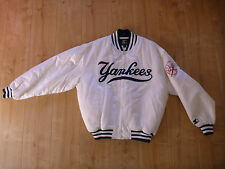 Starter Baseballjacke New York Yankees Weiß Gr L USA MLB Jacke College Jacket