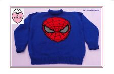 Knitting pattern spider man style,.sweater, jumper, pullover.