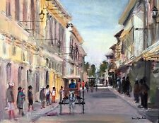 VIGAN - Philippine Art Oil Painting by Jun Rocha 2.5 ft x 2 ft