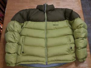 EUC Marmot Men's Guides Down Sweater Jacket Green 650 Fill Goose Down XL