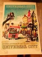 pubblicita' UNIVERSAL CITY CENTRO MONDIALE SPETTACOLO FILMS - vintage COLLEZIONE