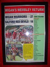 More details for wigan warriors 27 salford red devils 14 - 2017 challenge cup - framed print