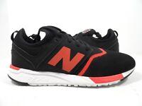 New Balance Men's MRL247GR Classic Sneaker Black/Red Size 9.5