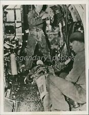 1944 World War II Blood Transfusion for the Wounded Original News Service Photo