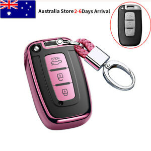 Remote Smart Key Cover Case Shell Fob For Hyundai Accent ix35 i30 for KIA Pink