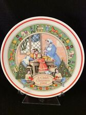 Wedgwood A Child's Christmas 1984 Collectors Plate (Sixth in Series)