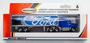 2002 Matchbox Convoy Ford Aeromax  BLUE / GREY / FORD LOGO