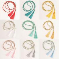 1 Pair Window Curtain Rope Tie Backs Tiebacks Living Room Bedroom Tassel Ornamen