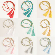 1Pair Rope Window Curtain Tiebacks Tassel Binding Rope Tie Backs Home Decor 1.3m