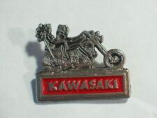 """Vintage Kawasaki """"2 Motorcycle Riders"""" Pin (Choice of 1-Silvertone or Goldtone)"""