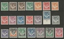 Northern Rhodesia 1938-52 George VI Complete set SG 25-45 Mint.