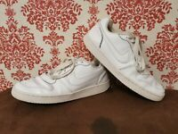 Nike Wmns Ebernon Low Triple White Leather Sneakers UK 7 AQ1779-100 Sneakers