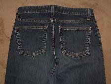 GAP Size 10 Ankle Boot Cut Dark Blue Stretch Denim Womens Jeans