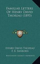 Familiar Letters of Henry David Thoreau (2010, Hardcover)