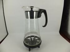 Vintage 70's Pyrex coffee pot with warming stand - excellent condition