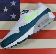 Nike Air Max 90/1 Running Shoes Green/Lime/Grey/White [AJ7695-103] Men's 10.5