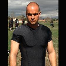 Padded RECOIL Shirt Under Vest SHOULDER ARMOR Shooting Hunting Tactical L BLACK