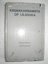 KRSNAKARNAMRTA OF LILASUKA KRSNA METRE VERSES KAVYA RARE BOOK INDIA 1990