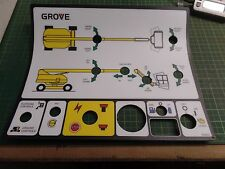 GENUINE GROVE MANLIFT PARTS 7376100672 LOWER CONTROL DECAL ASSEMBLY, MZ92, N.O.S