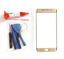 Gold Front Glass Lens Replacement LCD Repair Compatible Galaxy S6 EDGE PLUS G928