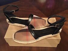 NEW AUTH  Burberry Abbingdon St. Check d'Orsay Espadrille Flat Sandals 39 Size 9