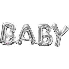 """Amscan BABY Form Original Folien Ballon Silber 16"""" Buchstaben Anlass Dekoration"""