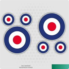 6 x RAF Mod Logo Vinyl Self Adhesive Stickers Car Van Truck Taxi Lorry