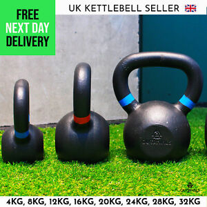 Kettlebells 4kg - 32kg Cast Iron Home Outdoor Gym Fitness Training Weights Sets