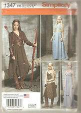 Simplicity Sewing Pattern 1347 LOTR Elf Archer Game of Thrones Costume Sz 6-14