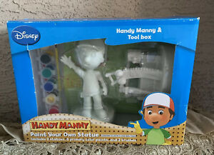 Disney Handy Manny Paint Your Own Statue Tool Box
