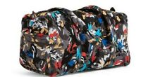 "Vera Bradley Splash Floral Factory Style Small 18"" DUFFEL Travel Bag NWTS"