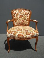 Chairs 1800-1899 19th Period Gilt Rococo Fauteuils Chairs ~ Scalamandre Silk Damask~ Arm Chairs
