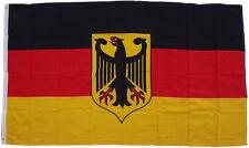 XXL Bandiera Germania Aquila 250 x 150 cm con 3 occhielli in metallo per alzato bandiera