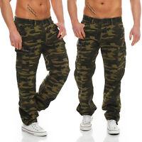 Big Seven Brian Cargo Hose Green Camouflage Comfort Fit Herren Jeans Hose