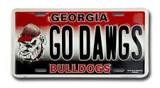 GEORGIA BULLDOGS CAR TRUCK TAG LICENSE PLATE GO DAWGS FOOTBALL SIGN UNIVERSITY
