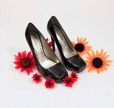 Gianni Bini Hidden Platform Stiletto Pump Black Patent Leather 7.5M