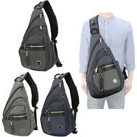 Men Women Large Sling Bag Backpack Chest Shoulder School Laptop Backpack Bag