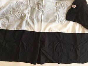 "Carousel Designs Solid Black 14"" Crib Skirt Dust Ruffle Made in USA Machine Wash"