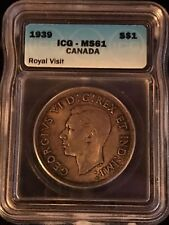 1939 Canadian $1 Coin ICG - MS61 (C354)