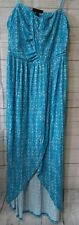 Lane Bryant maxi dress 18/20 blue high low NWT $89.95 strapless or straps long