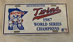 MINNESOTA TWINS 1987 WORLD SERIES CHAMPIONS BASEBALL Metal License Plate