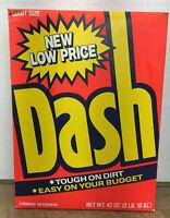 VTG Dash By Proctor Gamble Tough On Dirt Laundry Detergent 42 Oz Box 1980's NOS