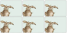 Hare Brained Table mats place mats and Coasters Wrendale Designs SET OF 6 Hares