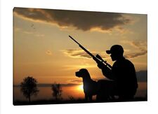 Hunting 30x20 Inch Canvas - Gun Framed Picture Poster Print