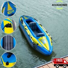 Fishing Kayak Boat Inflatable Kayak 2 Person Set Durable with Paddle Hand Pump