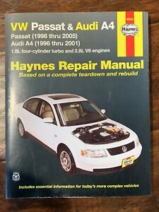 VW Passat 1998 to 2005 / Audi A4 1996 to 2001 Haynes Repair Manual #96023